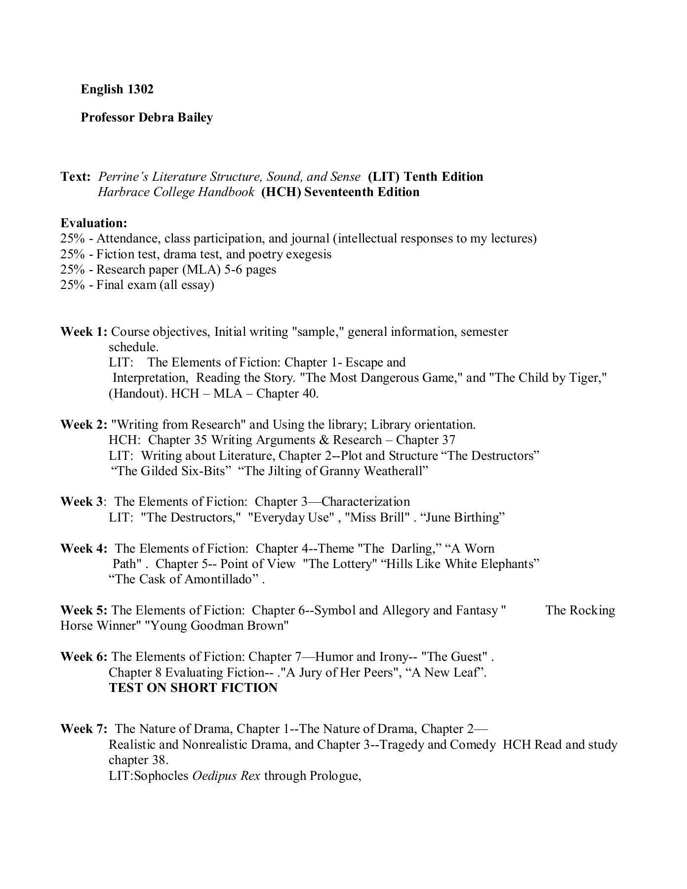The Rocking Horse Winner Worksheet English 1302 Professor Debra Bailey Class Participation Worksheets Exegesis