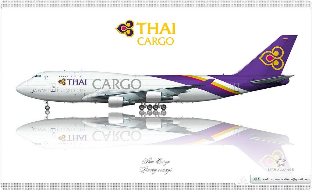 https://flic.kr/p/rSG1ow | Thai Cargo Livery Concept | Thai Cargo / Boeing 747-4D7(BCF) / Livery concept