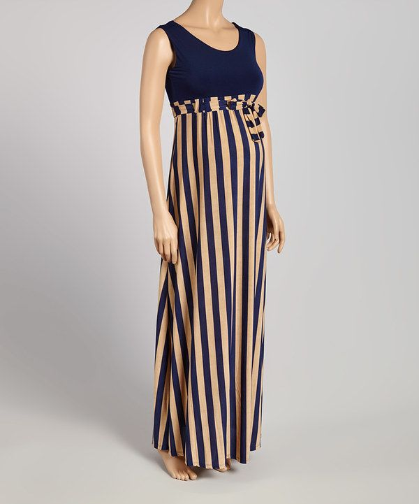 9fa81e5e3b2 Another great find on  zulily! Black Stripe Color Block Maternity Maxi Dress   zulilyfinds