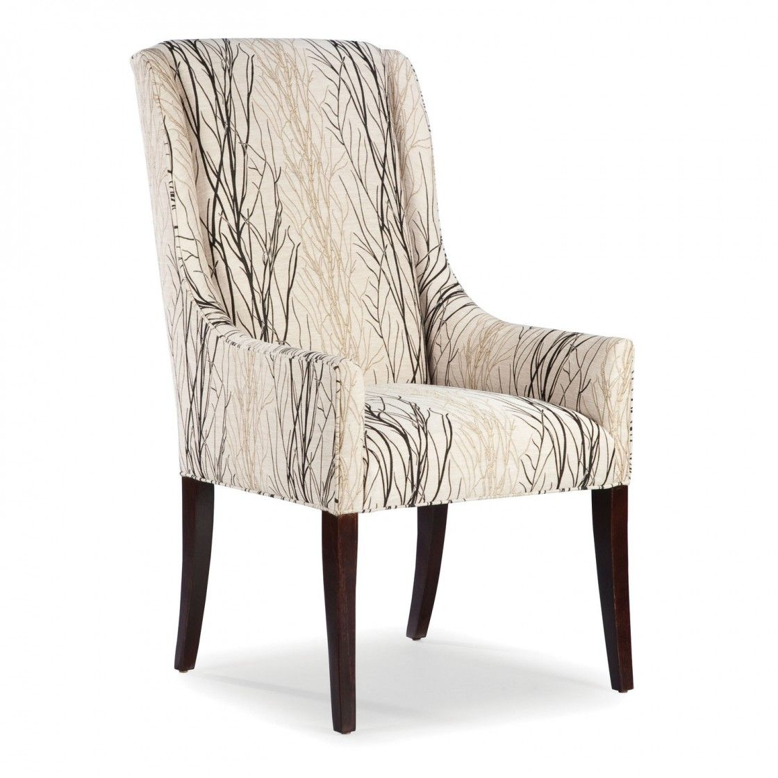 interesting cream tree pattern fabric dining chair with swoop back interesting cream tree pattern fabric dining chair with swoop back armless design and tapered square