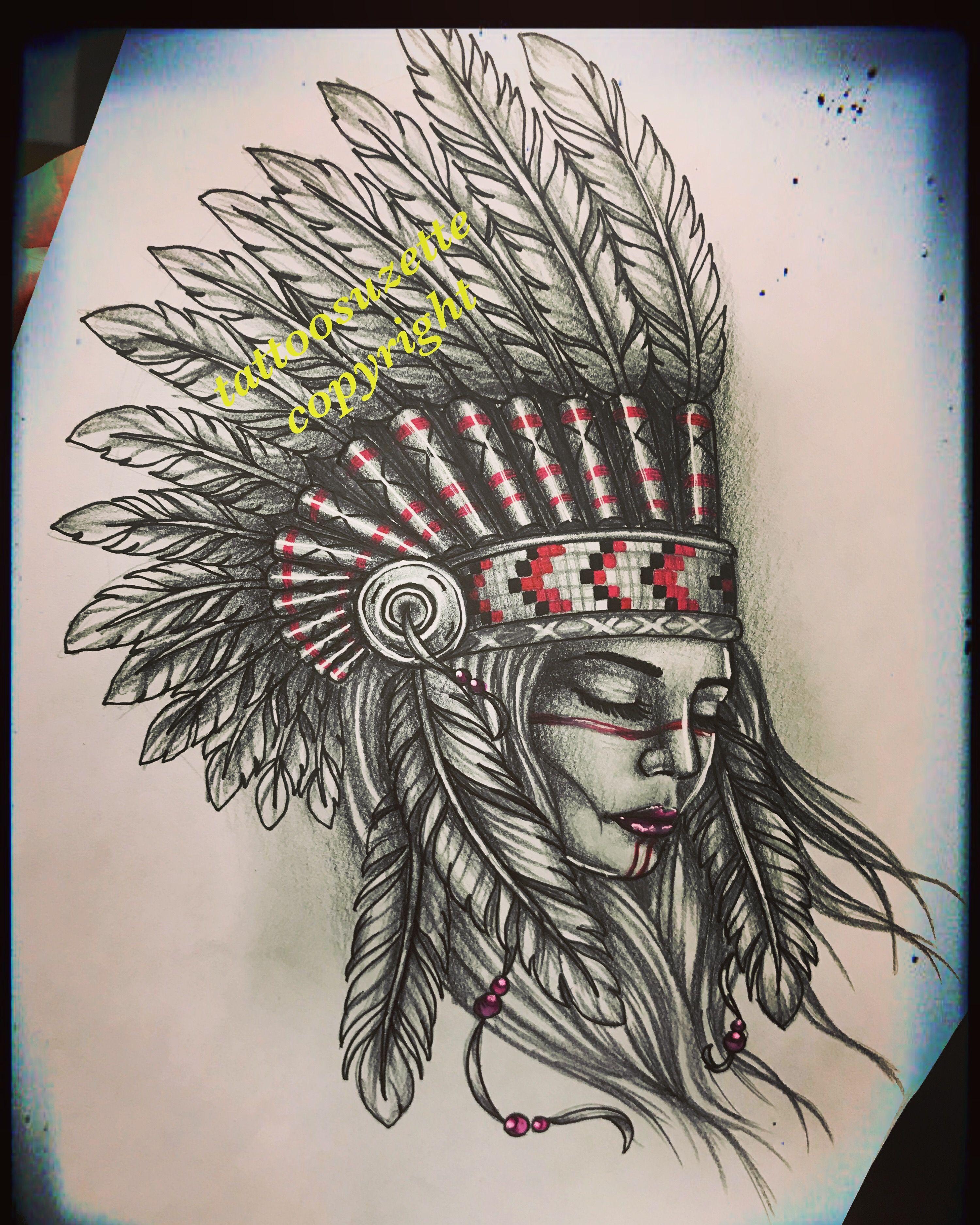 Indian Woman Tattoo Indiantattoo Tattooindian border=