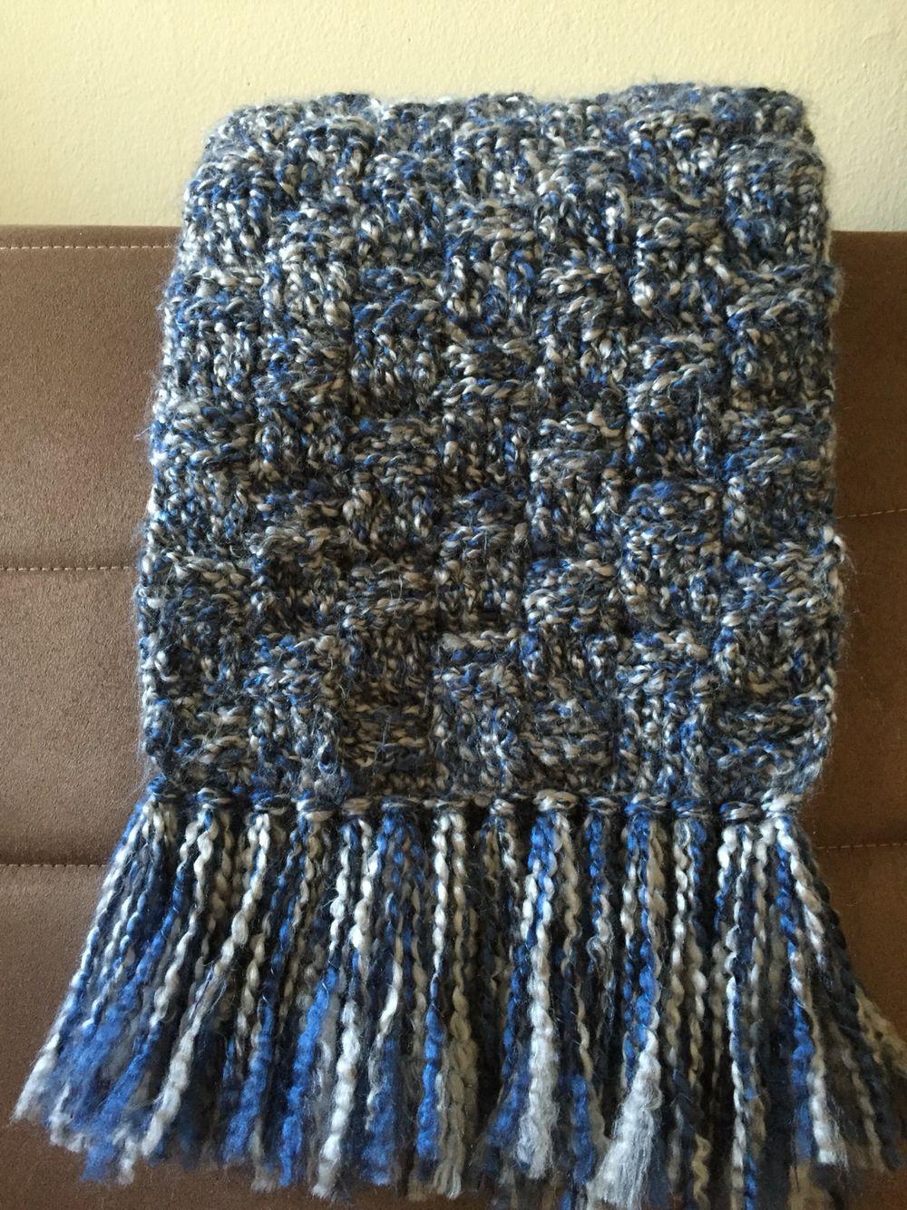 Basket-weave scarf | My Crochet | Pinterest | Woven scarfs and Crochet