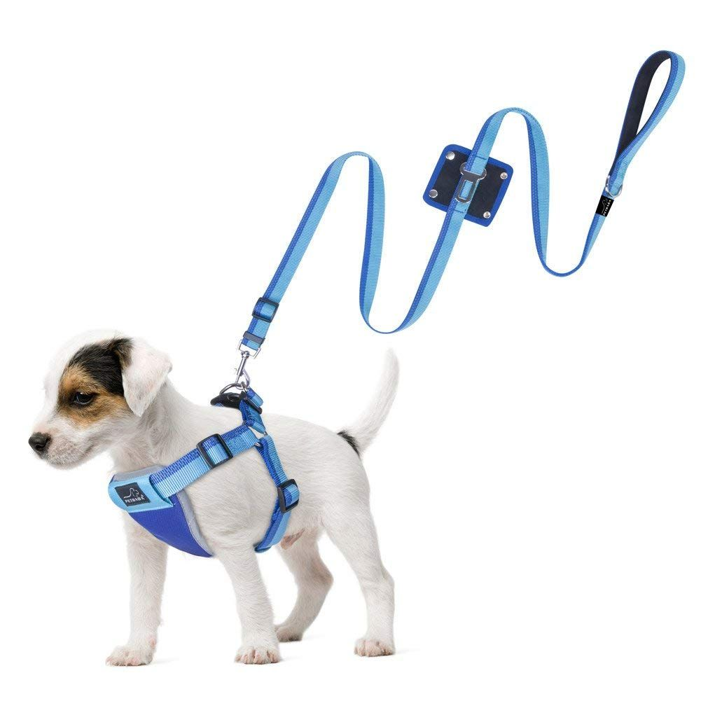 Petbaba Dog Seat Belt Harness Leash No Pull Harness Escape Proof