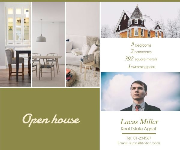 Open House Sales Facebook Post, for your business and