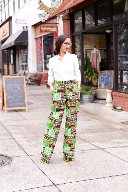 African Print Pants (120.00 USD) by MelangeMode