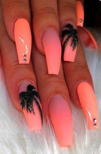 Easy Diy Summer Nails Girls Funsummernailcolors In 2020 Summer Acrylic Nails Peach Nails Best Acrylic Nails