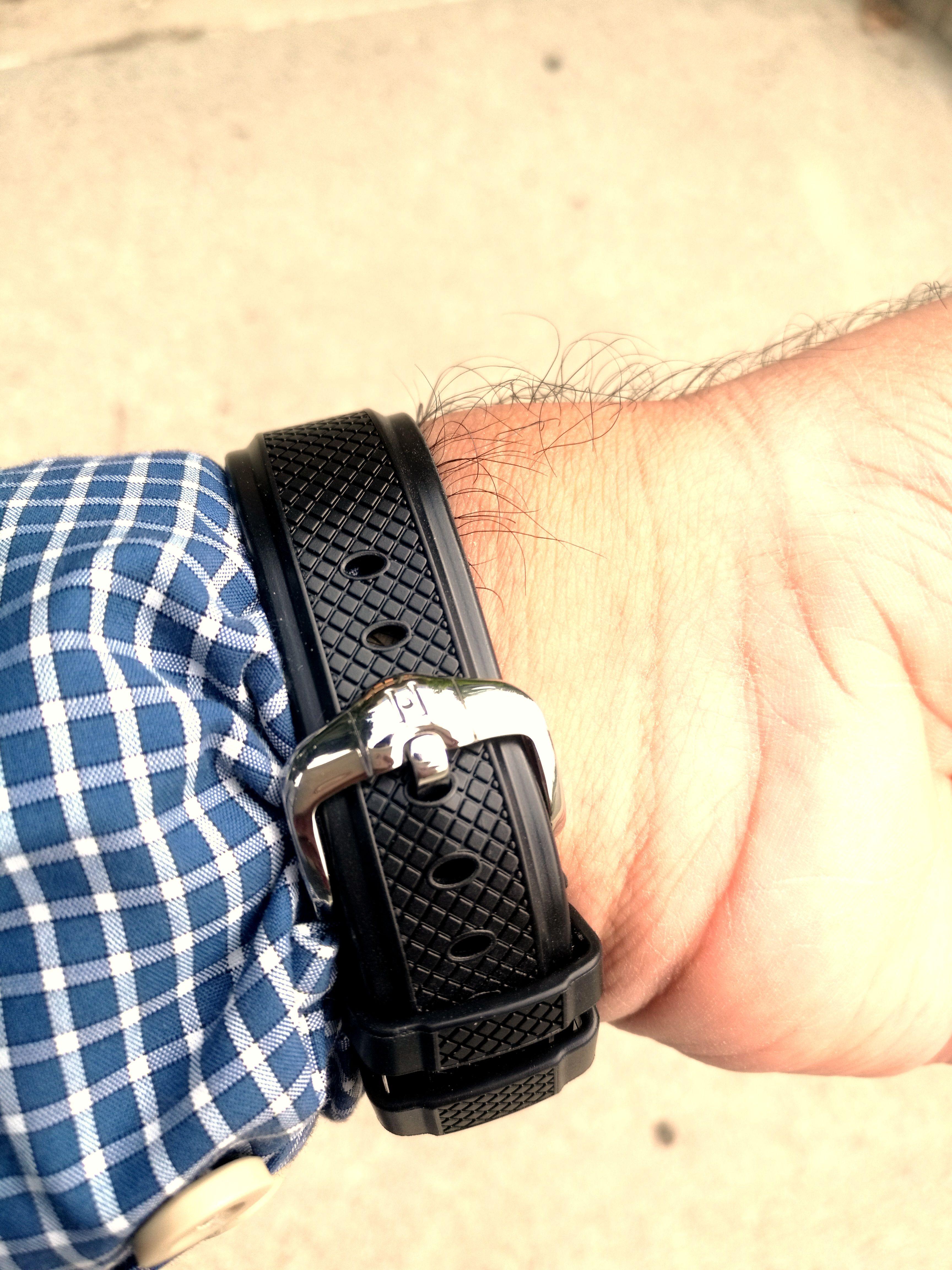 [Hirsch] Hirsch Accent caoutchouc rubber strap