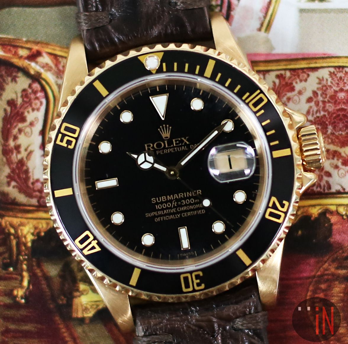 A Titanic Luxury Rolex 40mm Submariner S Serial Circa 1994 Ref 16618 18k Yellow Gold Http Www Elementintime Com R Rolex Rolex Submariner Submariner