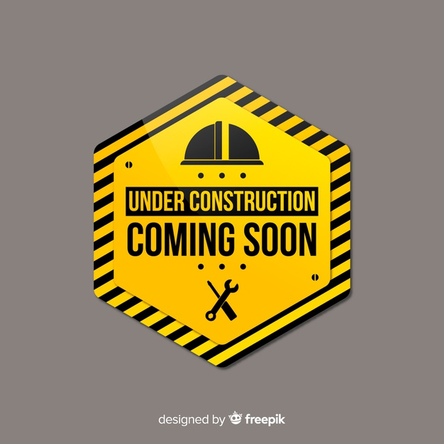 Download Flat Under Construction Sign Background For Free Construction Signs Under Construction Graphic Editing