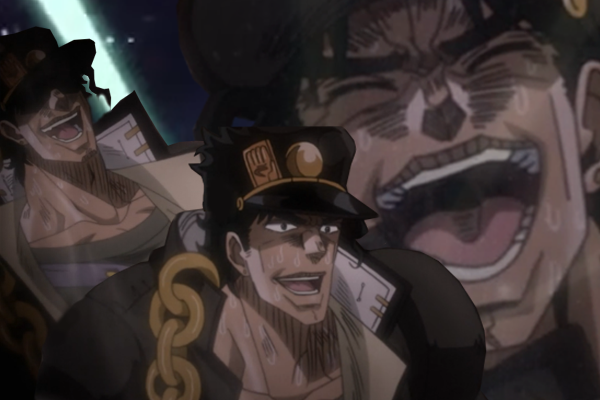 Laughing Jotaro Jojo S Bizarre Adventure In 2020 Jojo Bizzare Adventure Jojo Bizarre Jojo Memes