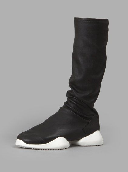 Black · RICK OWENS Rick Owens X Adidas Women'S Black Stretch Runner Boot  Sneakers.