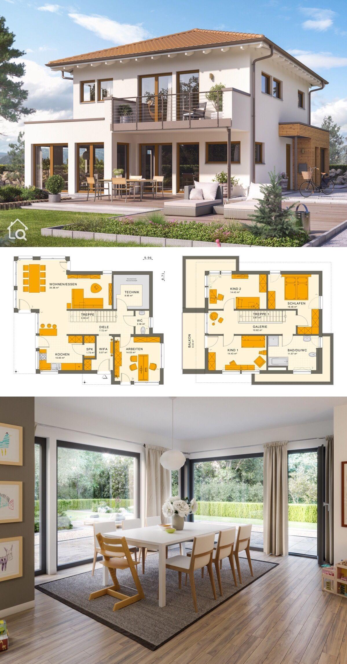 Moderne Neubau Stadtvilla Mit Walmdach Erker Balkon 5 Zimmer