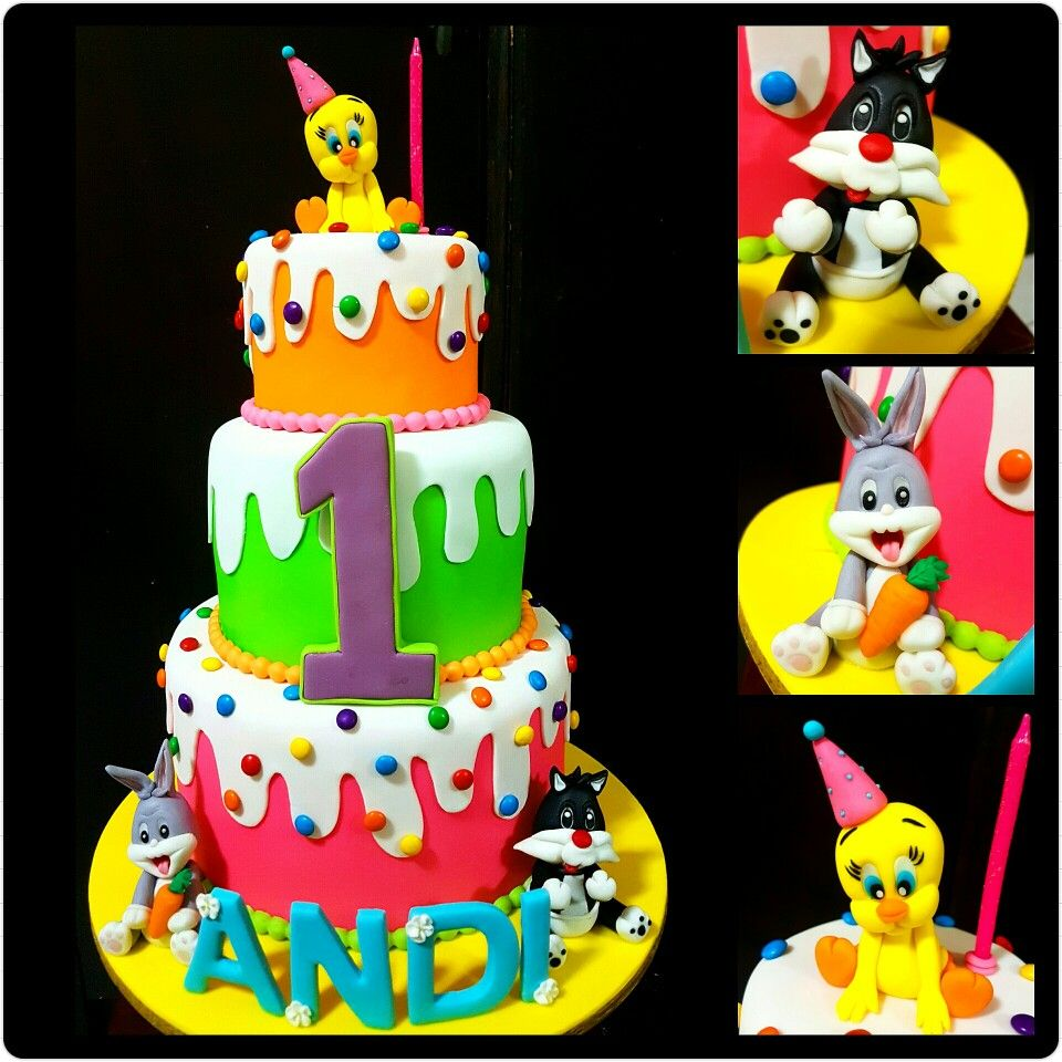 Baby looney tunes cake cookierrific creations for Baby looney tune decoration