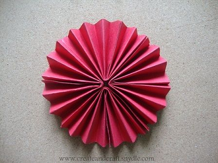 How to make paper rosette flower create and craft christmad how to make paper rosette flower create and craft mightylinksfo Choice Image