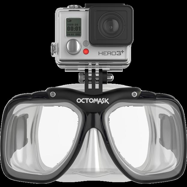 6e3d1097270b Octomask Frameless GoPro Mount Diving Mask.