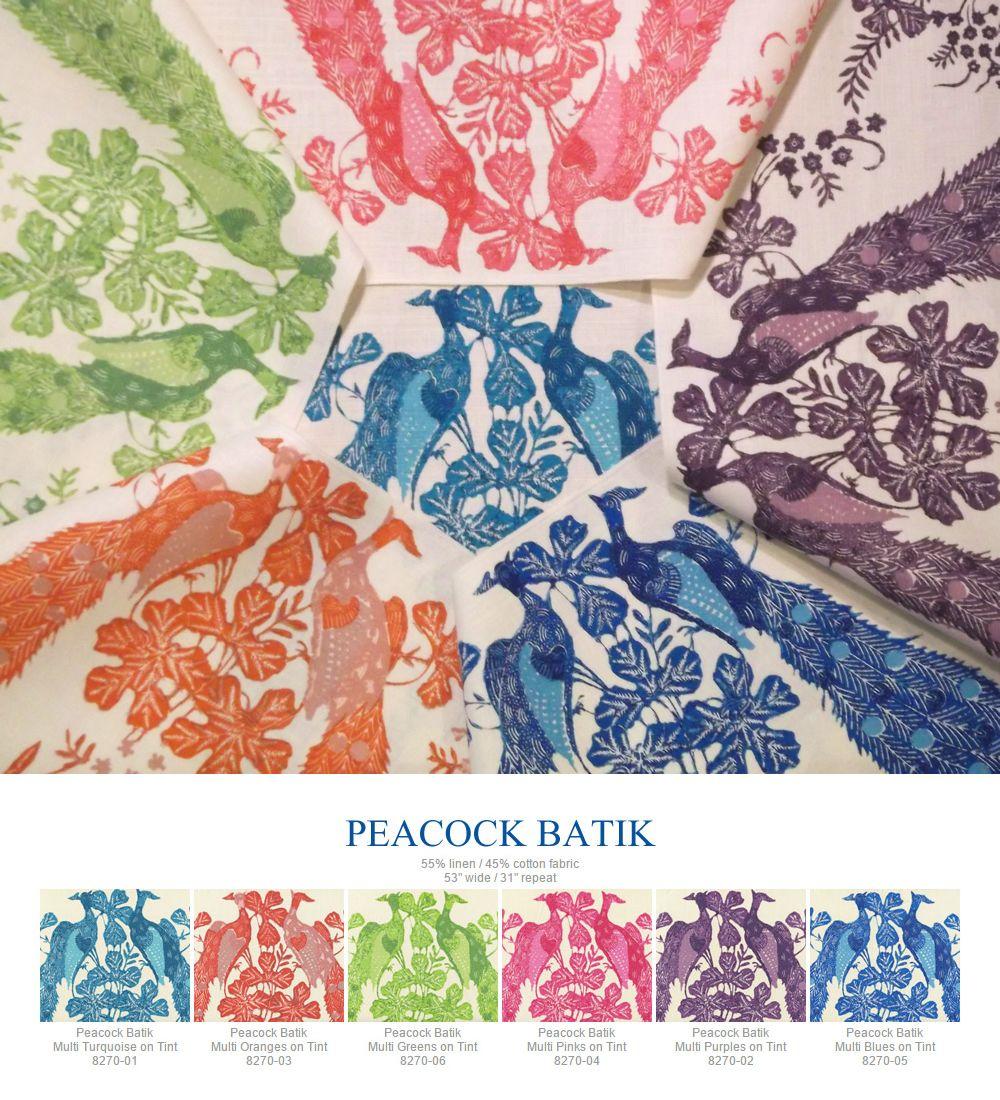 China Seas Peacock Batik Added October 2015 Quadrille