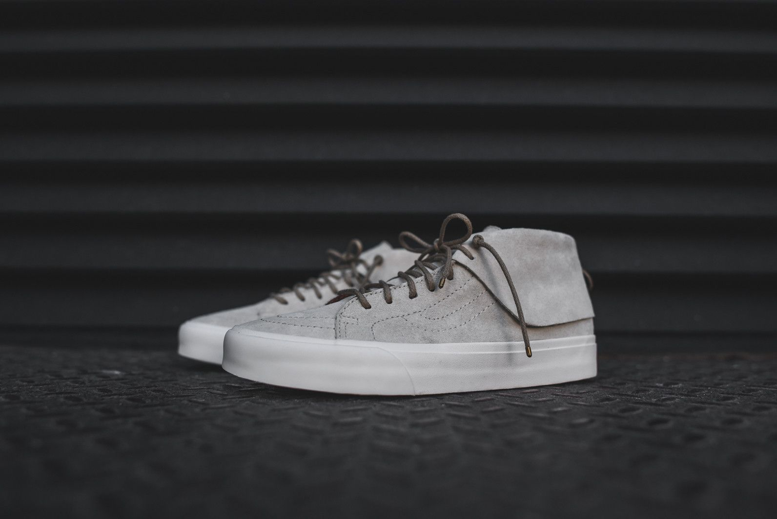 Vans CA Sk8Mid Moc  Oyster Gray Mens Sneakers Suede