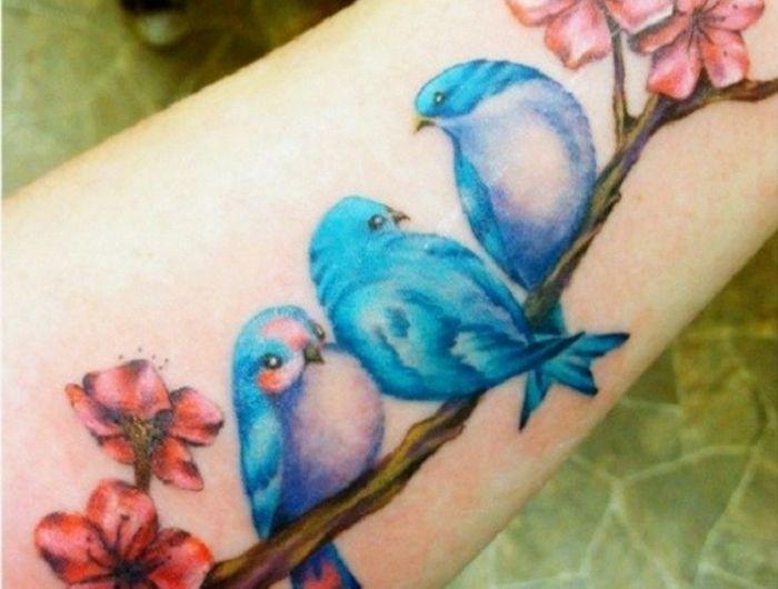 38++ Tatouage oiseau sur branche trends
