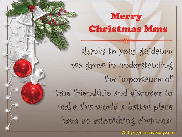 Christmas Card Message For Teachers From Parents