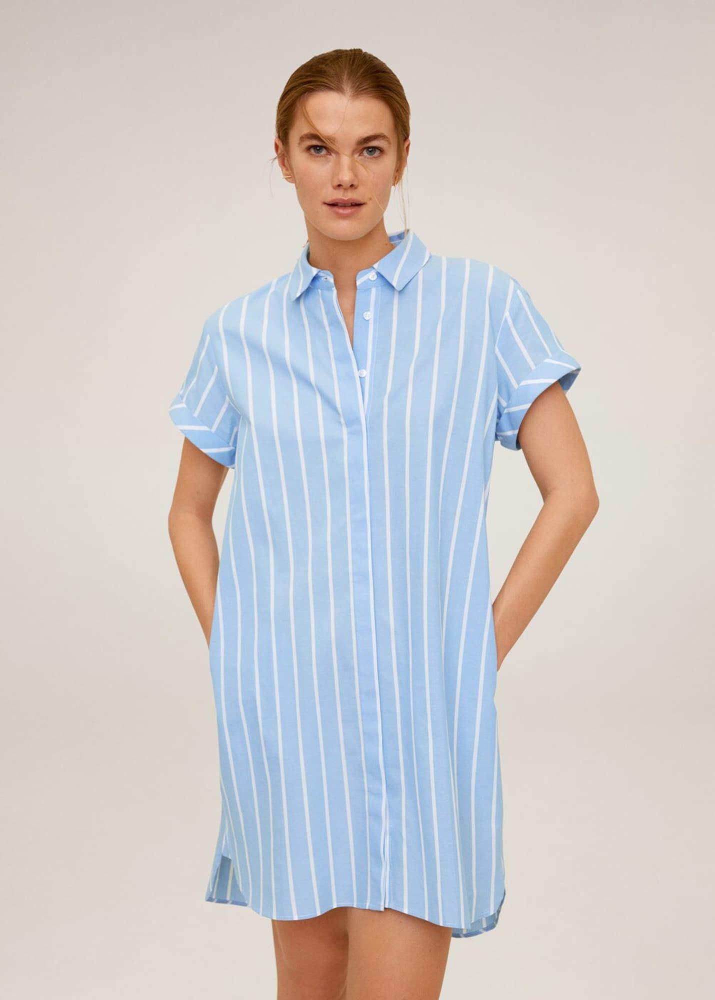 pin von angie katerine auf moda | gestreiftes hemdkleid
