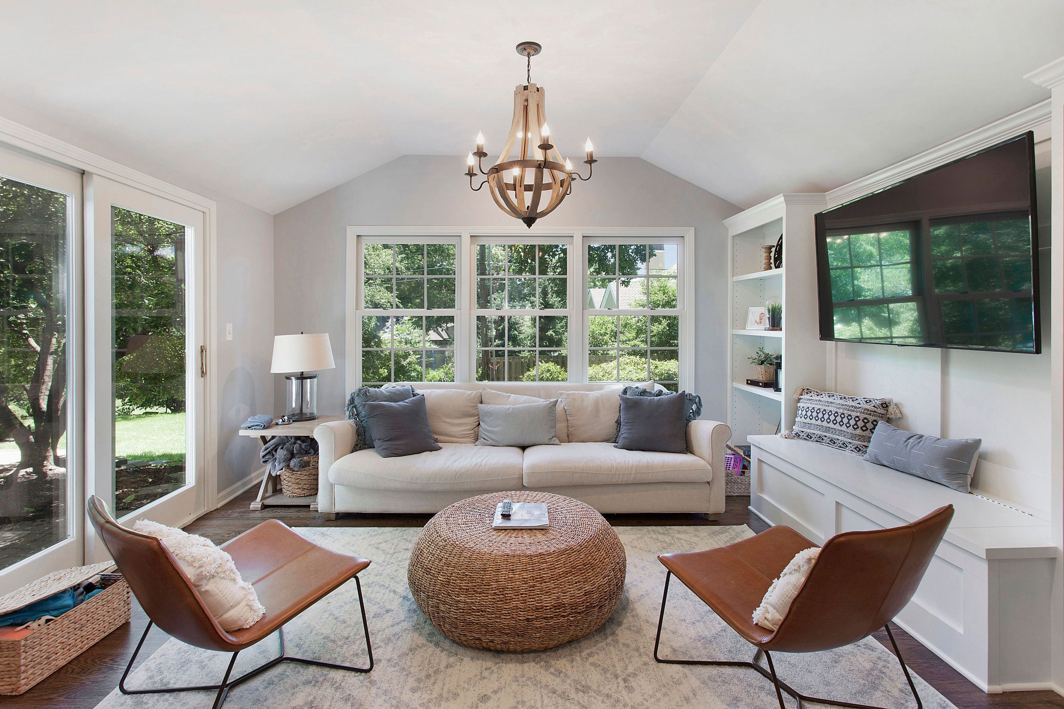 Cozy seating + lots of natural light = a perfect ...