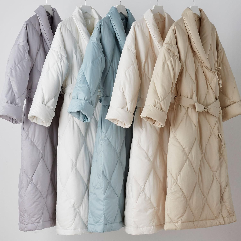Cotton Sateen Down Robe
