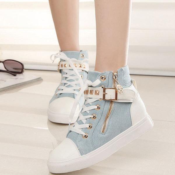 Myraxz Womens Low Top Sneaker Canvas Seasonal Shoes