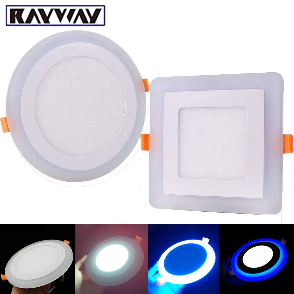 Aliexpress Com Buy 3 Model Round Square Blue White Double Color