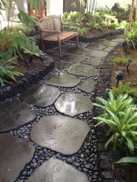 Lava Rock Pavers Hale O Kahakai Landscaping With