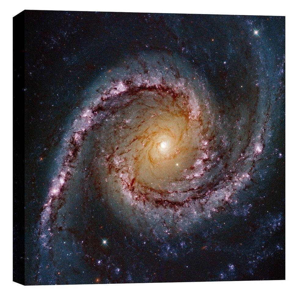 HUBBLE GALAXY CANVAS PRINT Home Decor Wall Art Giclee Space Stars Telescope