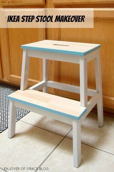 Enjoyer Of Grace Stool Makeover Ikea Step Stool Step Stool