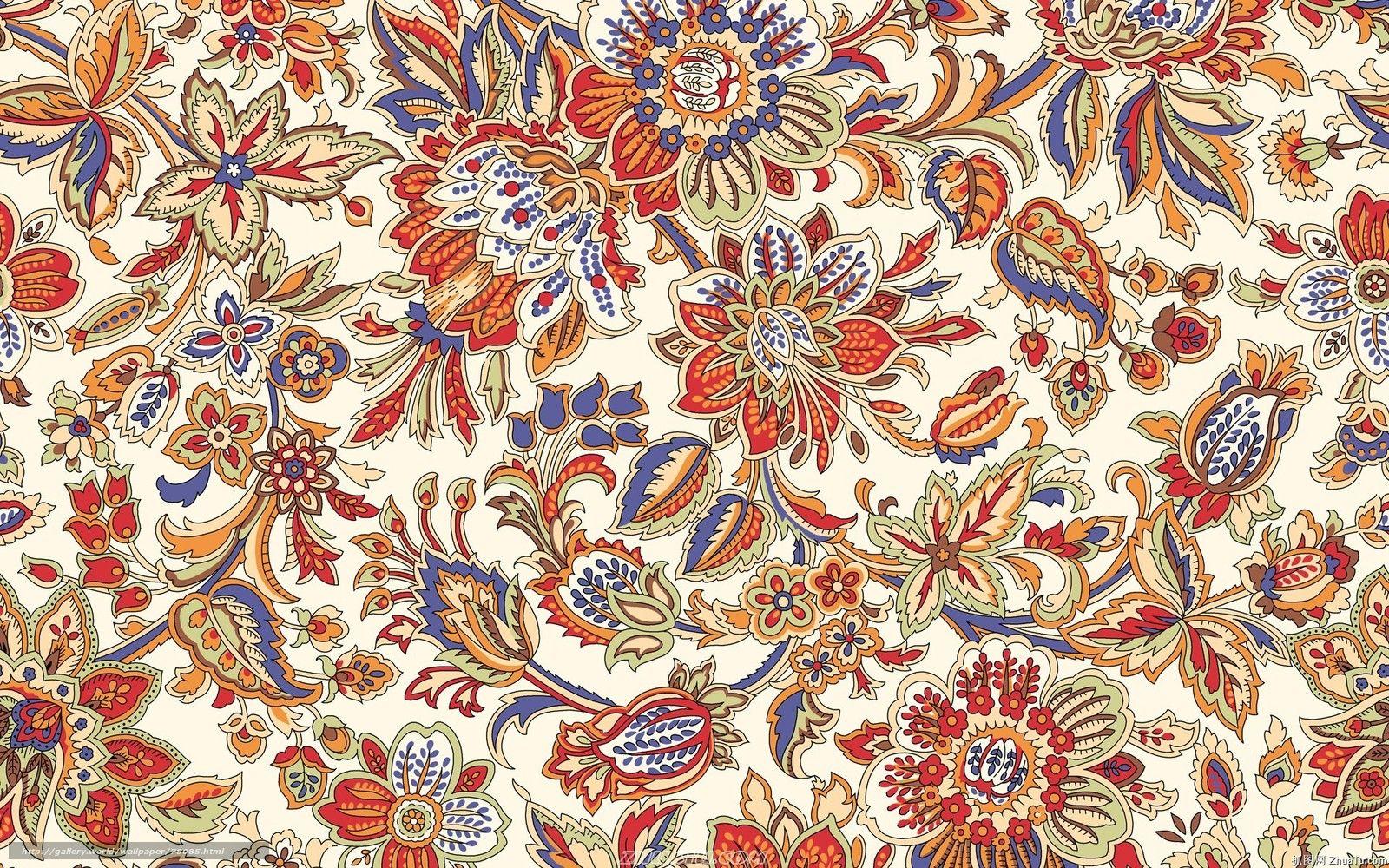 Tlcharger Fond d'ecran Multicolore, fleurs, modles, papier peint Fonds d'ecran gratuits pour ...