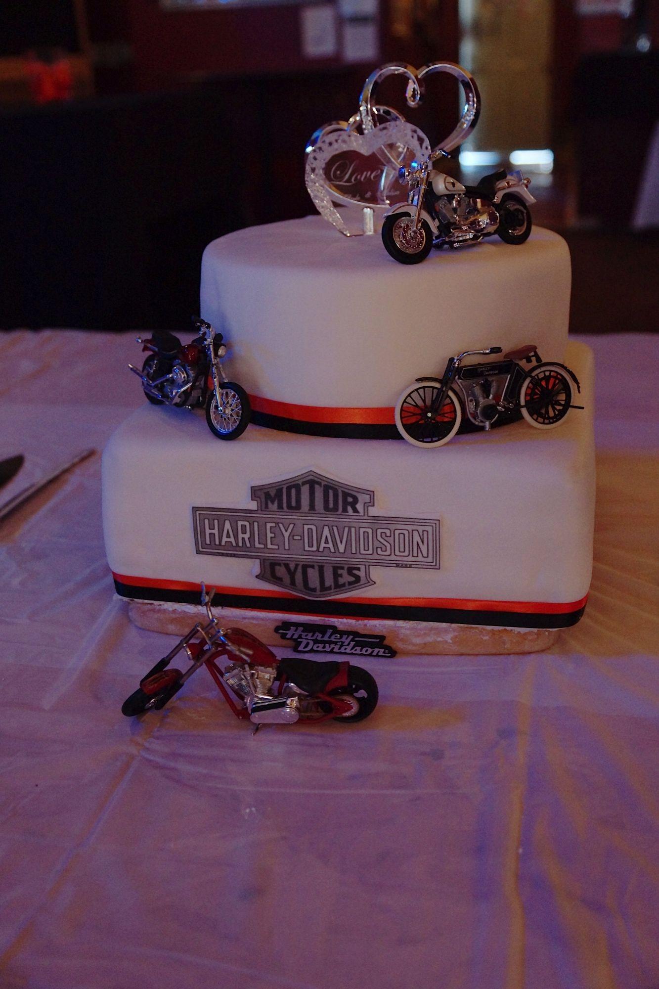 3 Tiered Harley Davidson Wedding Cake All Buttercream Icing