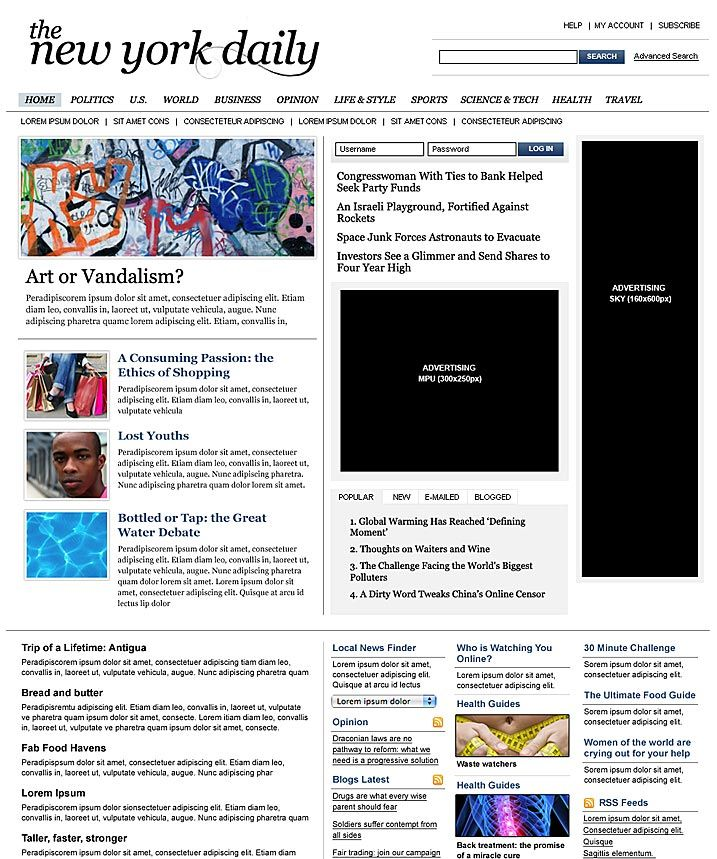About This Template News Web Type Website Cakepins Typography