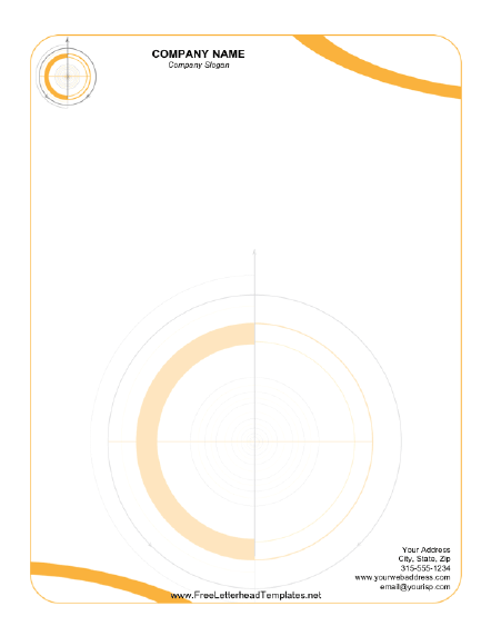 Printable letterhead with orange circles reminiscent of drafting printable letterhead with orange circles reminiscent of drafting surveying or engineering free to download and print spiritdancerdesigns Images