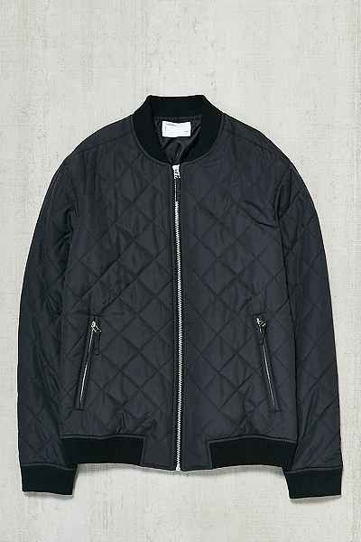 Your Neighbors Devon Quilted Bomber Jacket Outerwear
