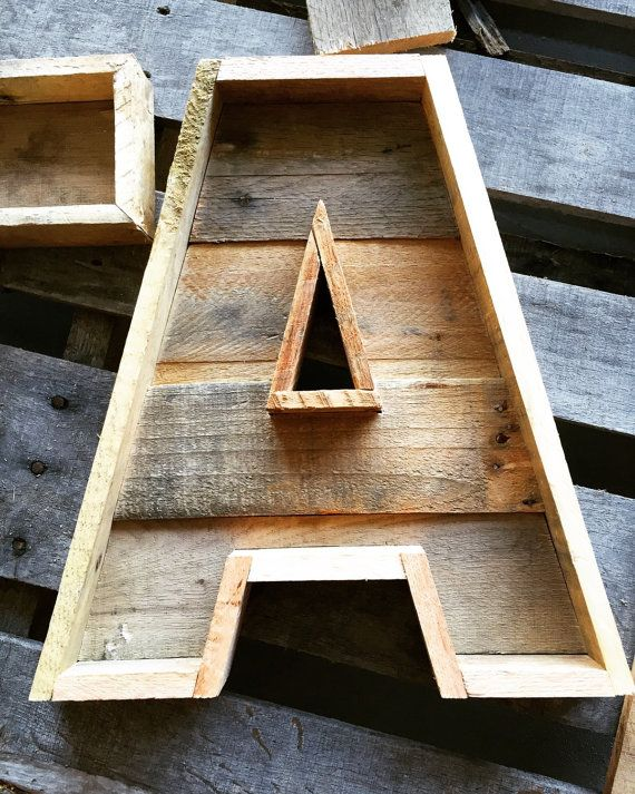 Pallet Letter Rustic Letter Reclaimed Wood Marquee Di