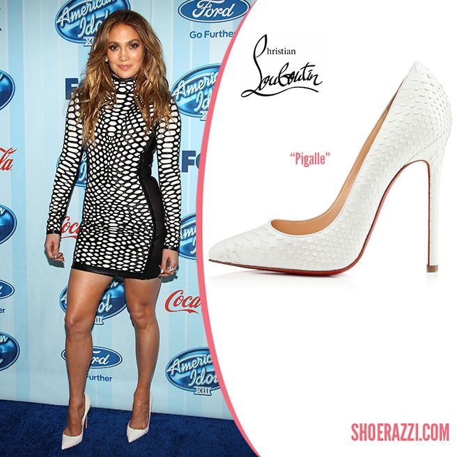 751036d25ed Jennifer Lopez in Christian Louboutin Pigalle White Python Pointed ...