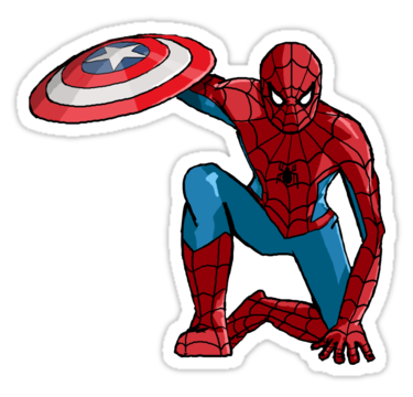 Spider man sticker by demonology7789