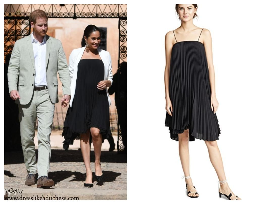 Loyd Ford Pleated Mini Dress Black Meghan Markle Dress Like A Duchess Pleated Mini Dress Mini Black Dress Meghan Markle Dress