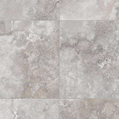 Travertine Grey 12 Ft Wide Residential Vinyl Sheet Vinyl Sheet Flooring Vinyl Flooring Bathroom Vinyl