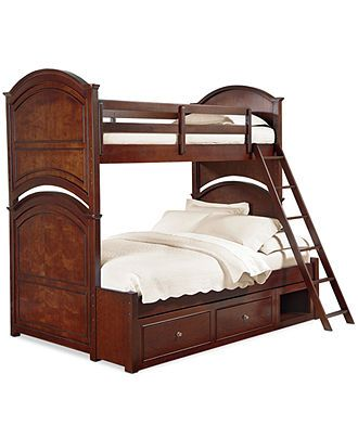 Irvine Kids Bed Twin Over Full Bunk Bed Furniture Macy S