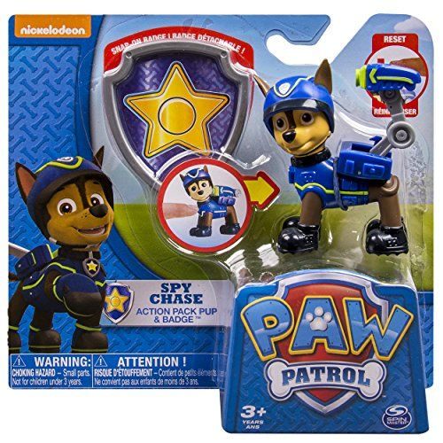 SKYE Pull Back Pup with Gate Toy Paw Patrol Action Pack and Badge Assorted