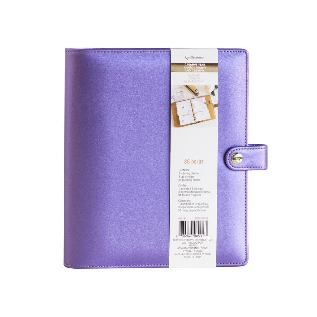 Creative Year A5 Binder By Recollections, Purple