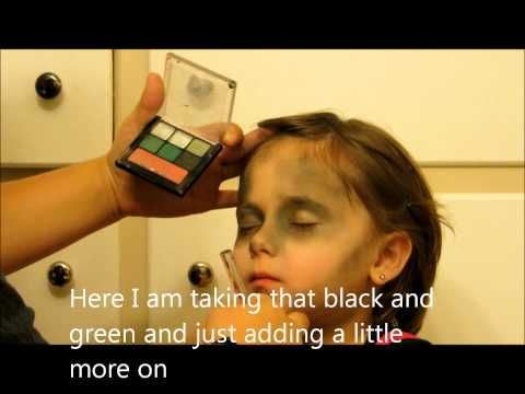 Easy Zombie tutorial - http://47beauty.com/easy-zombie-tutorial/   				  https://www.avon.com/?repid=16581277  Don't forget to subscribe and comment This is my first makeup video I hope you like it!  More Videos coming soon. This is an easy zombie make up tutorial that you can create with… Makeup: Eyeshadow (black, green, grey, white, red) Also for added effect apply some blue eyeshadow on the lips after applying concealer for a more dead look. Black eyeliner fa