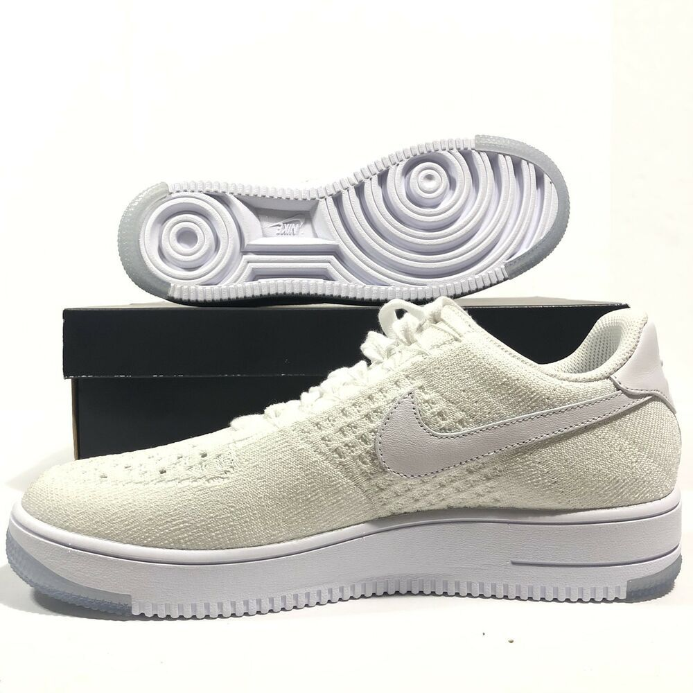 Nike Air Force 1 Ultra Flyknit Low Mens 817419 100 White Ice