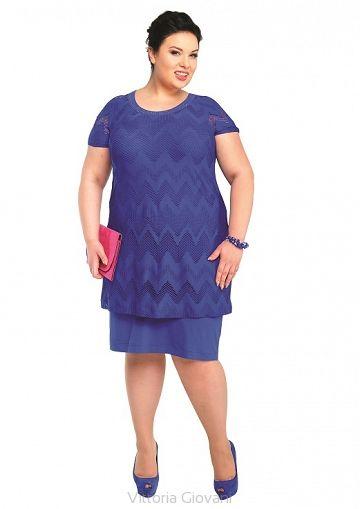 Sukienka Padwa Szafir Vittoria Giovani Sukienki Dla Puszystych Duze Rozmiary Moda Xxl Fashion Casual Dress Casual