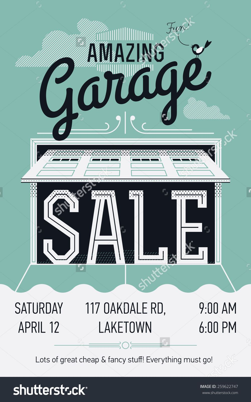 Garage Sale Feria Americana Cartel Disenos De Unas