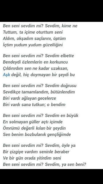 Ben Seni Sevdim Mi Sevdim Kime Ne ümit Yaşar Oğuzcan Poetry şiir