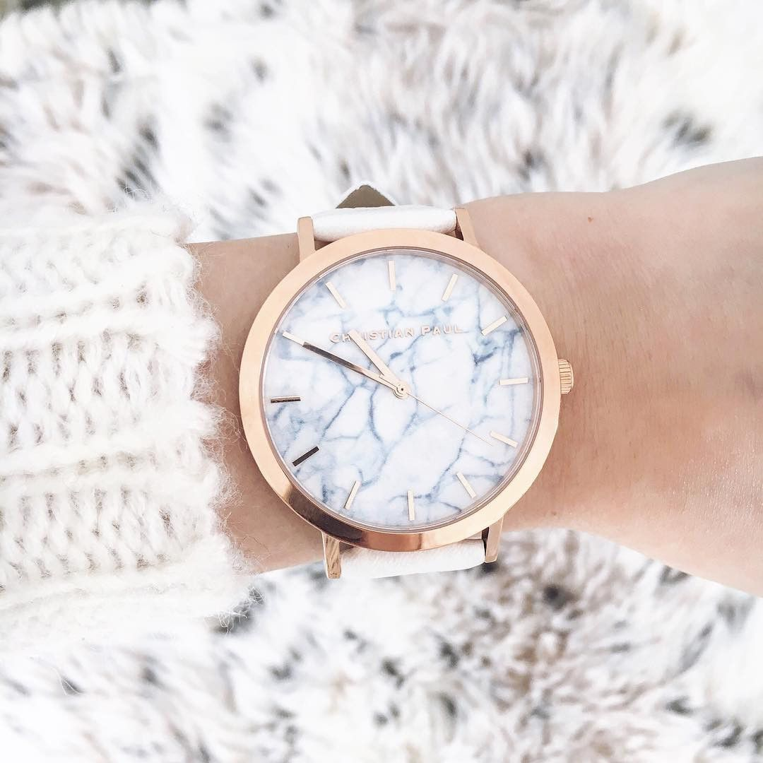 Christian Paul Watch Whitehaven Marble 43mm. This timepiece will bring you so much excitement, for so little! Do not wait another minute. Add this fun piece to your winter wardrobe! Features include a